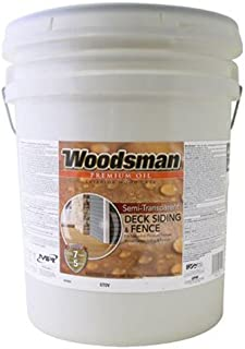 True Value STOVN-5GAL Woodsman Neutral Base Oil Deck and Siding Stain, 5-Gallon
