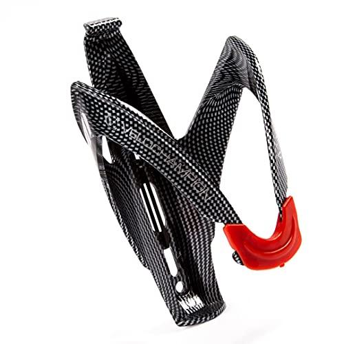 VeloChampion Support de Cage de bidon de Bouteille en Fibre de Carbone pour s'adapter à la Plupart des Tailles de Bouteilles