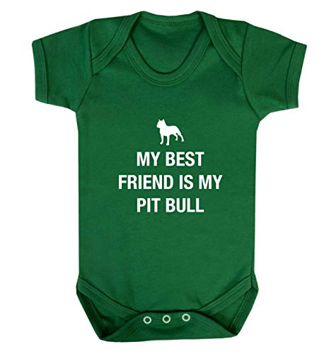 Flox Creative Baby Vest Best Friend Pit Bull - Vert - XS