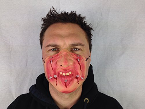 Funny demi visage-Déguisement-Masque en Latex de tête de cerf