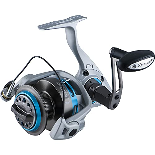 Quantum Cabo Saltwater Spinning Fishing Reel, Size 50 Reel, Changeable Right- or Left-Hand Retrieve, Magnum CSC Drag System, SCR Aluminum Body and Side Cover, Silver/Blue