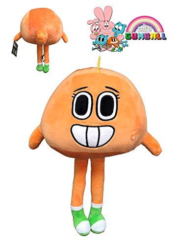 GMBALL Lo Straordinario Mondo di Gumball - Peluche Darwin Personaggi Arancione 40cm - buona qualità -Naranja-