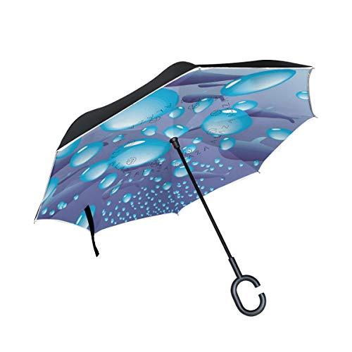 Winddicht mit C-förmigem Griff Patio-Regenschirmhalterung Außenschirm für Auto-Regenschirm Ocean Whale Sea Water Drops