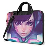 Overwatch Laptop Sleeve Case Protective One Shoulder Shockproof Handheld Case/Notebook Computer Pocket Case/Tablet Briefcase Carrying Bag Compatible/Soft Carrying Zipper Bag-13 Inch