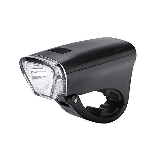 Luz LED Delantera reemplazo para Bicicleta, Linterna de Bicicleta Delantera Faros LED Ciclismo Nocturno Linterna de Seguridad 3 Modos de Iluminación Funciona con 3 Pilas AA (No Incluidas)