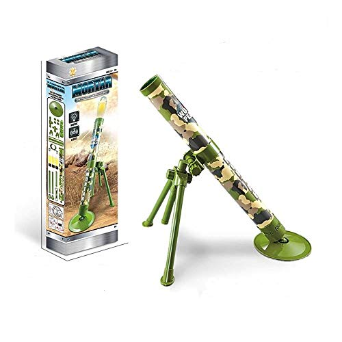 DOMOEY Toy Mortar,Artillery,Cannon,Howitzer,Gun.Self-propelled Launch.Military Toy with 3 Safe Foam Shells.Novelty Gift for Kids.