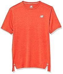 New Balance Camiseta Manga Corta Hombre Naranja - MT01234
