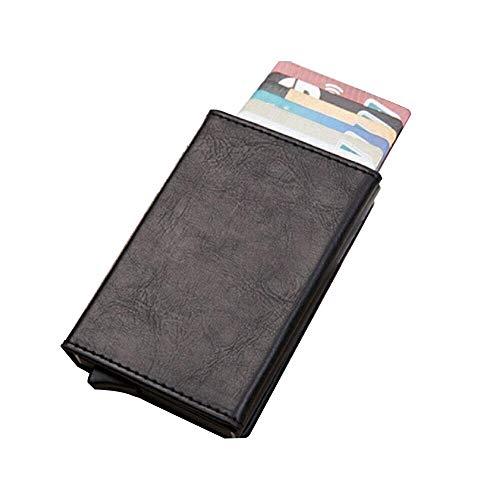Hanks' Shop Karten-Paket charismatisches Beutel-Multifunktionsaluminium Automatonlike Pop-up-Kreditkarte-Paket (Schwarz) (Color : Black)