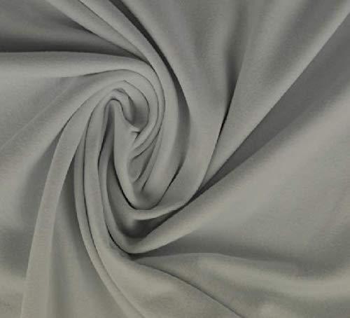 Jersey di cotone, morbido jersey elasticizzato di ottima qualità, grigio argento, 100 x 150 cm, in jersey di cotone al metro, tessuto jersey di cotone, jersey.