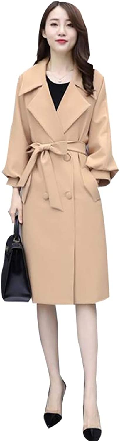 Jxfd Women's Winter DoubleBreasted Long Sleeve Trench Coat Overcoat