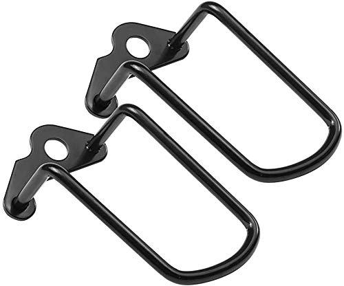 2 piezas de cubierta protectora de desviador trasero de bicicleta, soporte de cuadro de bicicleta ajustable de acero de hierro de 3,2 pulgadas, cubierta protectora de desviador de cadena trasera