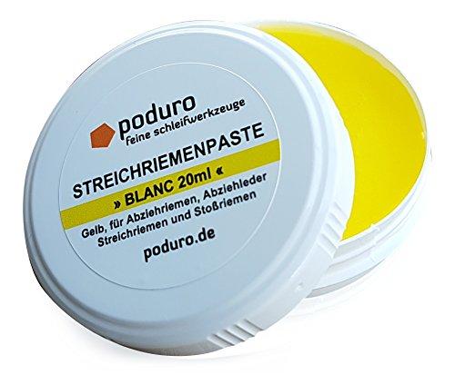 PODURO Blanc | Abziehpaste gelb - Lederbalsam/Streichriemenpaste für Streichriemen und Abziehleder