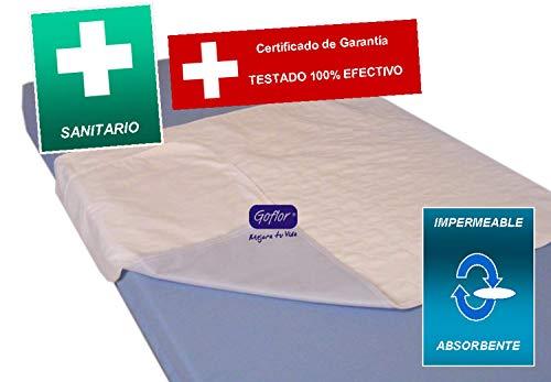 Goflor Comfort trekker voor bed, absorberend, 2,5 l/m2, 5-laags, PVC, sanitair, blauw