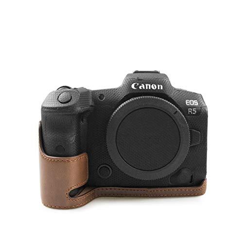 MUZIRI KINOKOO Kameratasche für Canon EOS R5, Canon EOS R6 Case Grip Case Canon EOS R5 Schutzhülle Kaffee