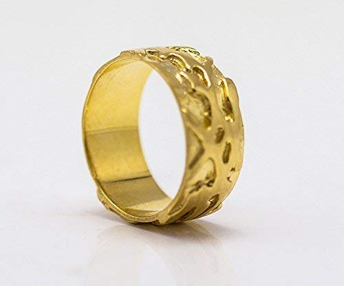 Men/'s Ring Promise Ring Personalized Gold Ring Gold Hammered Ring Bronze Handmade Band Wedding Engagement Custom Inside