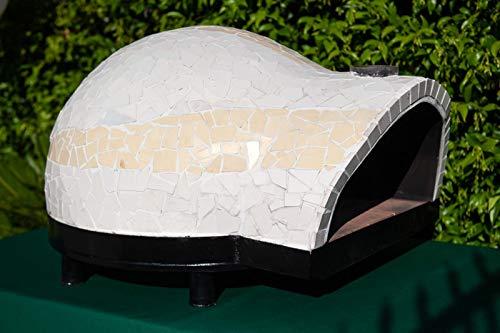 Genèrico Garden 80 – Horno de leña profesional refractario para jardín exterior de 80 cm (4 pizzas) – Color amarillo