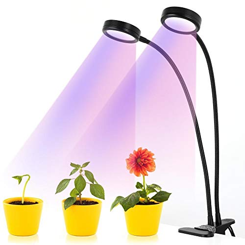 Hffheer Plant Groeien Lights Dubbele kop Aquarium LED Plant Lamp Aquarium zwanenhals Clip-on Lights dimbaar Timing Kamerplanten Groeien Lamp