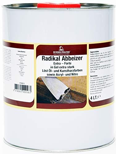 Abbeizer Borma Kräftige Power Lackbeizer 4 Liter Gel Extra Lackabbeizer Farbabbeizer