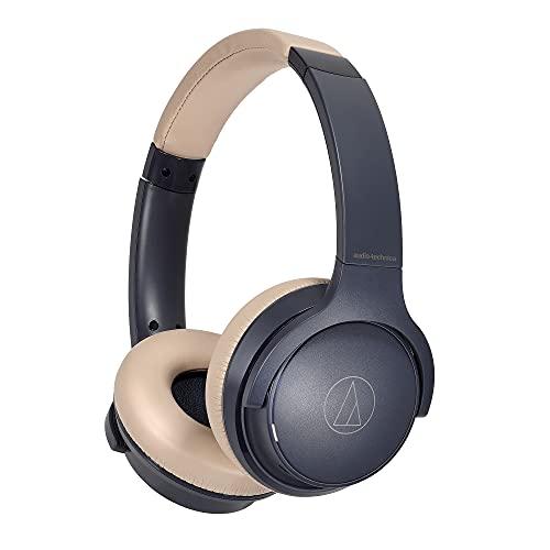 audio-technica ワイヤレスヘッドホン 最大60時間再生 急速充電 低遅延モード マルチポイント対応 ATH-S220BT NBG