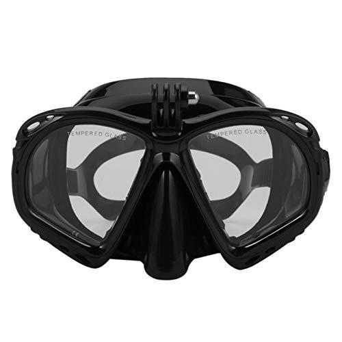 MHSHKS Máscara De Buceo con Esnórquel Gafas De Snorkel con Soporte para Cámara para Buceo Y Snorkel, Equipo De Buceo Adecuado para La Mayoría De Cámaras Deportivas (Color : Black)