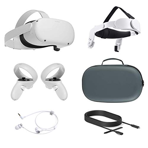 2021 Oculus Quest 2 All-In-One VR Headset, Touch Controllers, 64GB SSD, Glasses Compitble, 3D Audio,...