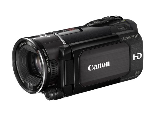 Canon LEGRIA HF S21 AVCHD-Camcorder (Dual-Flash-Memory, 10-fach opt. Zoom, 8,8cm (3,5 Zoll) Display) schwarz