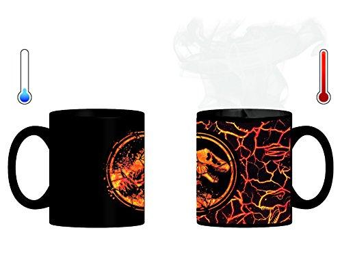 Jurassic World 75443 Magic Mug-die Tasse wechselt beim Erhitzen das Design-(320 ml) in Geschenkpackung 12x9x10 cm, bunt