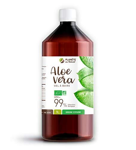 Aloe Vera Bio 99% de pureté - Gel à Boire - 1 Litre