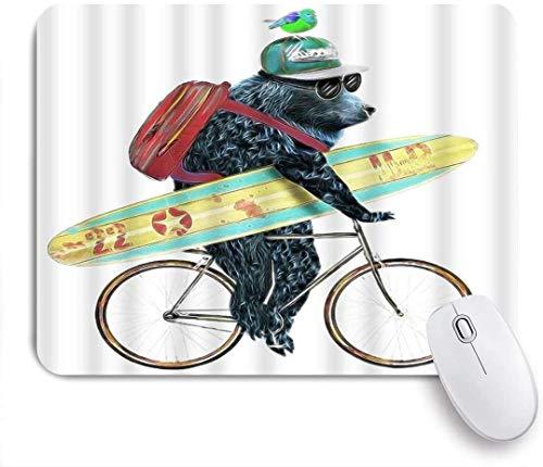 Gedruckte Maus PadBear Cute Cartoon Tier Fahrrad Surf Cool Bag Sonnenbrille Cap Board Bird Lustige, dekorative Mousepad für Game Players Office, Schreibtisch Dekor