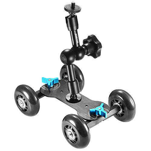 Neewer Table Mobile Rolling Slider Dolly Car