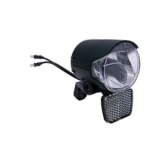 P4B | Scheinwerfer für E-Bike - 6V und 12V | 120 Lumen (ca. 40 Lux) | Mit Spiegeltechnologie für eine hohe Lichtausbeute bis zu 120 Lumen
