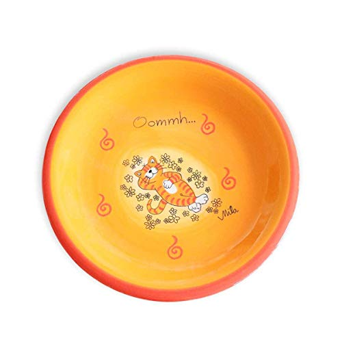 440s Mila Keramik-Teller, Oommh Katze Verschnaufpause | MI-84195 | 4045303841956