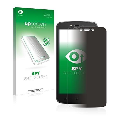 upscreen Anti-Spy Blickschutzfolie kompatibel mit Lenovo Moto C Plus Privacy Screen Sichtschutz Bildschirmschutz-Folie
