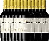 12er Weinpaket Rotwein - Malbec 2018 - Kaiken mit VINELLO.weinausgießer | trockener Rotwein | argentinischer Rotwein aus Mendoza | 12 x 0,75 Liter