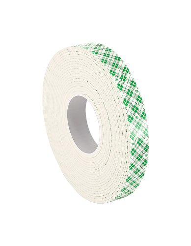 "3M - 1-5-4032W 4032 Natural Polyurethane Double Coated Foam Tape, 1"" width x 5yd length (1 roll)"