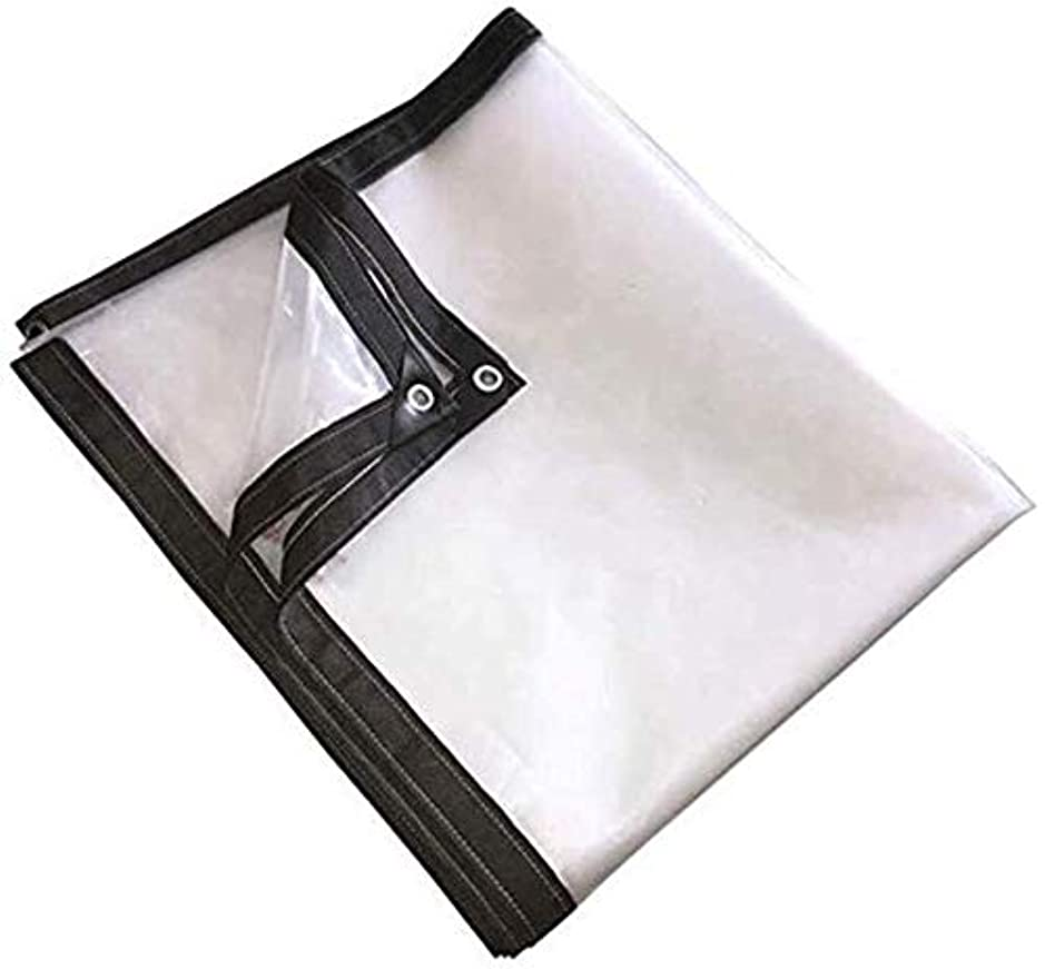 グレートオーク基準あご防水透明な布 防水ヘビーデューティテラス透明防雨生地肥厚保湿フィルムアルミバックルポリエチレン、サイズのA品種は、カスタマイズすることができます 0915 (Size : 2x3m)