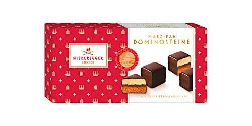 Marzipan Domino | Finest Dominoes Double Filled with Niederegger Marzipan and Dark Chocolate | 125 g | Niederegger | Germany