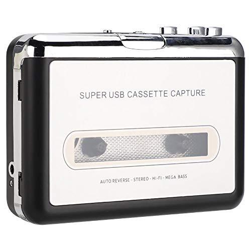 Ginyia Tragbares Stereo-ABS-Plug-and-Play, USB-Kassettenrekorder, Kassettenrekorder für 2000 / XP/Vista/Seven.8.10 für Computerkopfhörer