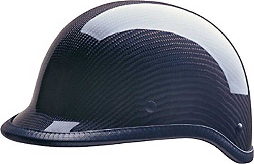 HCI Carbon Fiber Polo Motorcycle Half Helmet Black - ABS Shell 105-217 (XL)