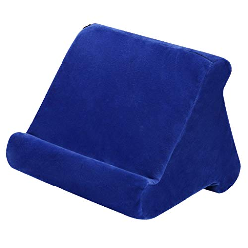 freneci Book Couch Tablet Holder for eReader Rest Sofa Pillow Stand - Blue