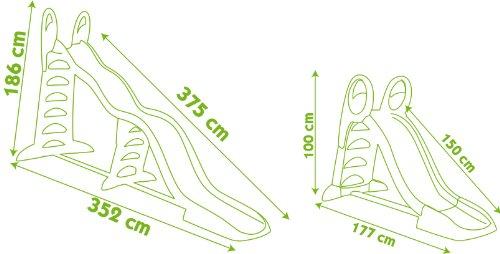 Smoby 310260 - 2-in-1 Wellenrutsche Super Megagliss Spielzeug - 2