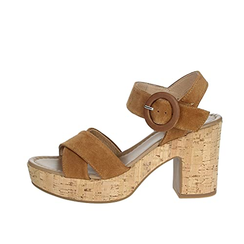 Sandalo da Donna NeroGiardini in Pelle Tabacco E012420D. Scarpa dal Design Raffinato. Collezione Primavera Estate 2020. EU 38