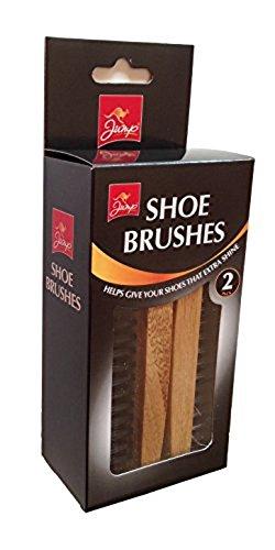 Jump Shoe Polishing Brushes 2 Pieces Pack Set, Black, NA