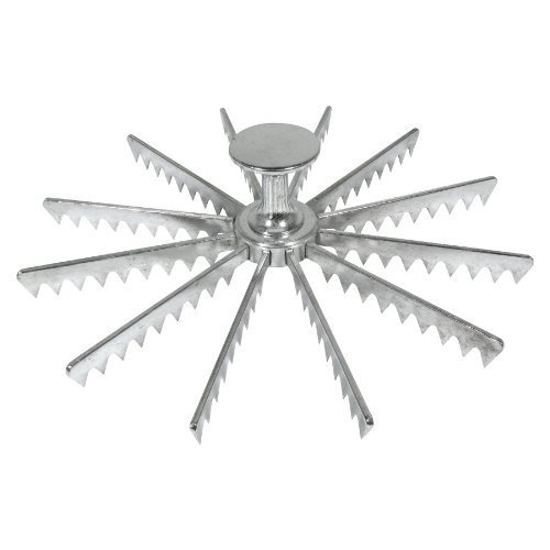Royal Industries Pie Marker, Cast Aluminum, 12 Cut, Silver, Commercial Grade