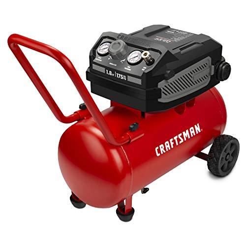 Craftsman Air Compressor, 10 Gallon 1.8 HP Max 175 PSI Pressure, Powerful and Portable Oil Free Maintenance Free Compressor for Home, Garage, Workshop, Model: CMXECXA0201041
