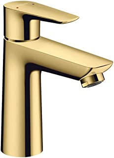 Hansgrohe Talis E Single Lever Basin Mixer 110 With Pop-Up Waste, Polished Gold-Optic, 71710990