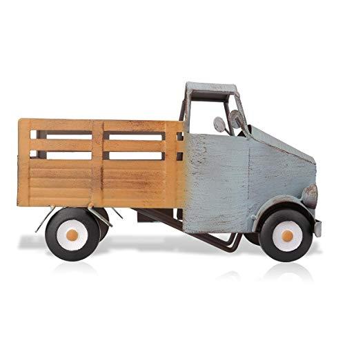 NO LOGO ASHY-ZYP Recogida botellero camión Escultura Vino Estante de Metal práctico decoración Escultura de decoración del hogar Interior Crafts (Color : As Photo)