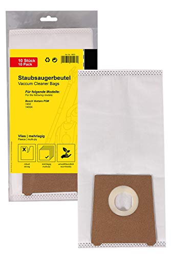 PATONA 10x Staubsaugerbeutel kompatibel mit Bosch Ventaro PSM 1400 1400A, reißfeste Filtertüte 5-lagig aus synthetischem Vlies mit Microfilter