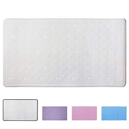 Aimego Waterproof Bath Cushion//Spa Pillow With 7 Suckers Non-Slip,Support for Head Neck and Back White Bath Pillow