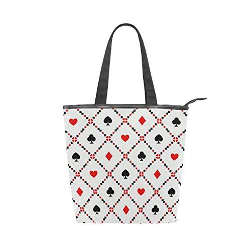 MALPLENA Malpela Handtasche für Damen, mit Spielkarten-Motiv